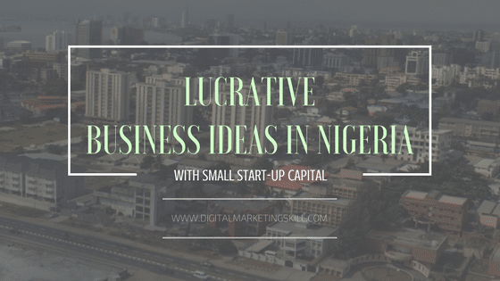 Lucrative business ideas in Nigeria with small start-up capital