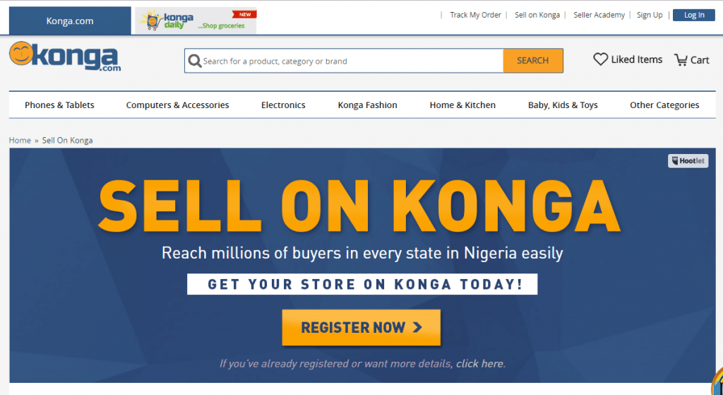 sell on konga 1024x559 - How To Make Money Online In Nigeria 2019